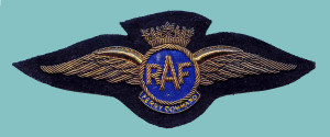 This is the specialised pilot badge worn by Air Transport Group 45 of RAF Transport Command, which operated out of Canada. Little is known about why specialized wings were worn. Windrum Collection.