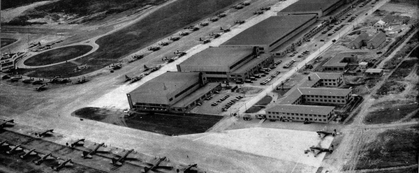 Dorval Airport in summer, circa 1941-42