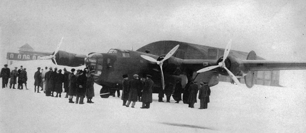 First B-24 Liberator through Gander airport