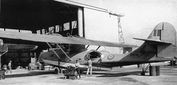 Consolidated Catalina PBY in for maintenance