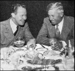 Undated Bill Kirchner photo: Jimmie Mattern, at left, with his friend Will Rogers Courtesy of the University of Dallas at Texas, Eugene McDermott Library, Richardson, TX.