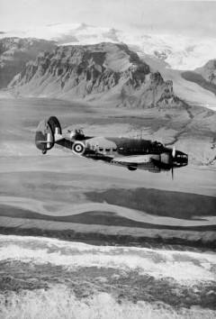 Lockheed Hudson bomber over Greenland