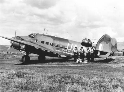 """Lockheed Hudson bomber, """"The Spirit of Lockheed-Vega Employees"""""""